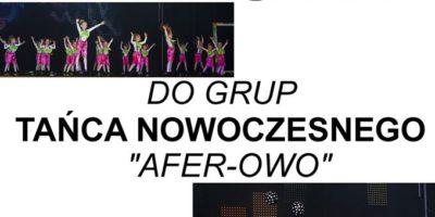 Nabór do zespołów tanecznych