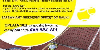 Rusza szkółka tenisa ziemnego w gminie Konopiska